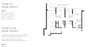 the-garden-residences-3-br-floor-plan-c2-singapore